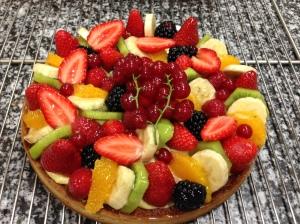 tarte aux fruits frais ou Tutti Frutti.